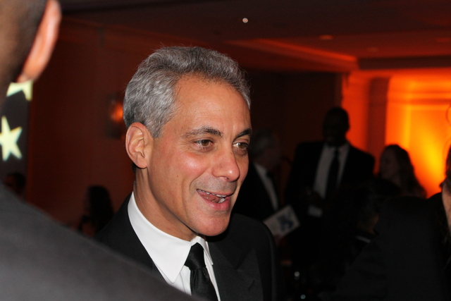 <p>Mayor Rahm Emanuel attends the Illinois Inaugural Ball in Washington, D.C., on Saturday. He said he doesn&#39;t want to president, and loves being mayor of Chicago.</p>