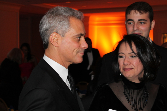 <p>Mayor Rahm Emanuel attends the Illinois Inaugural Ball in Washington, D.C., on Saturday.</p>