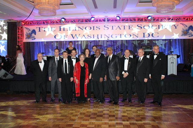 <p>The Illinois Congressional delegation attends the Illinois Inaugural Ball Saturday.</p>
