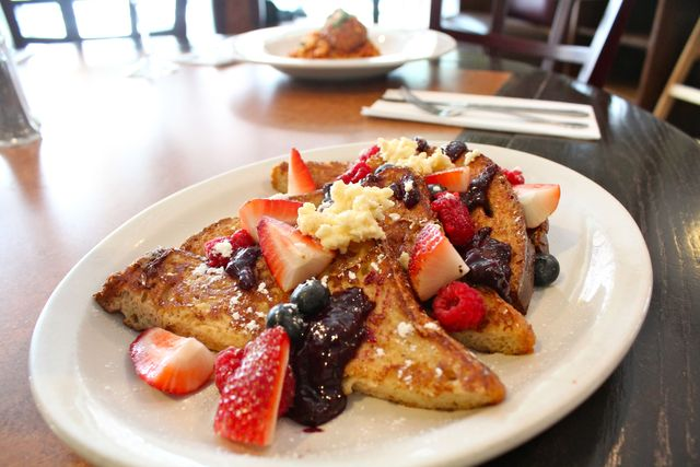 <p>French toast with homemade jam and berries at Isabel&#39;s Restaurant in Lincoln Park.</p>