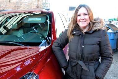 Lisa Pugliese, 39, a marketing and communications consultant, won free use of a 2013 Chevy Traverse during the week between Christmas and New Year's. In addition to shuttling friends around and visiting her family in the suburbs, Pugliese delivered 10 donated Domino's pizzas to formerly homeless women on New Year's Day.