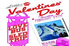Valentine's Day Love Bus Sled Trip