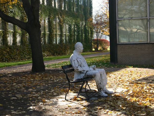<p>On a 6-by-9-foot space near Perlstein Hall at the Illinois Institute of Technology&#39;s Bronzeville campus, the Man on a Bench is the smallest park within the Chicago Park District.</p>