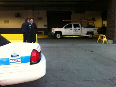 A man was shot near the Merchandise Mart in River North Wednesday morning.
