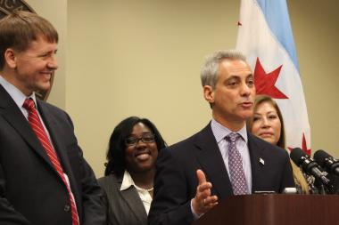 Mayor Rahm Emanuel first outlined the new ordinances with Consumer Financial Protection Bureau Director Richard Cordray last month.