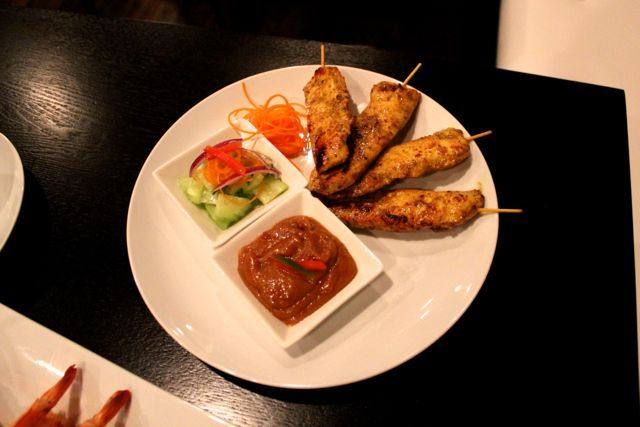 <p>The chicken satay appetizer at O&#39;Cha Thai Cuisine contains grilled marinated chicken breast served with spicy peanut sauce and cucumber relish. It&#39;s $7.</p> <p>O&#39;Cha Thai Cuisine at 2062 N. Damen Ave. will celebrate its soft opening Jan. 20 and Grand Opening Jan. 26.</p>