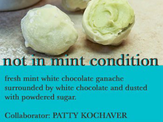 <p>Artist Patty Kochaver will take inspiration for the Not In Mint Condition truffle.</p>