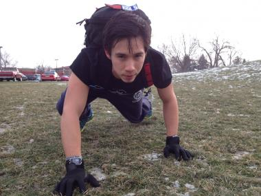 "Former Albany Park resident Rodrigo Velarde plans to ""bear crawl"" the 5K  Polar Dash race Saturday."