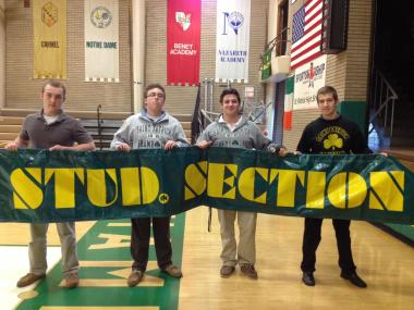 "The ""Stud Section"" at St. Patrick High School in Belmont Cragin is considered a top-tier student cheering section."