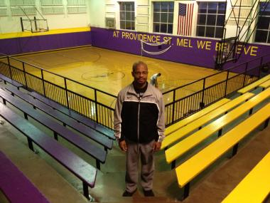 Tim Ervin is the boys basketball coach at Providence St. Mel School.