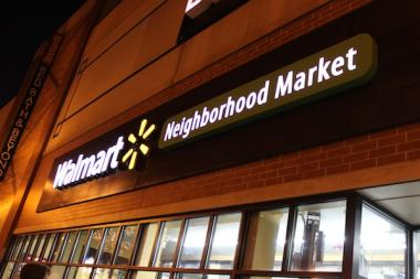 The controversial Walmart Neighborhood Market, 2884 N. Broadway, opened for business on Wednesday.