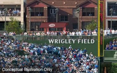 Fans may see changes near the bleachers after the Cubs complete renovations to Wrigley Field.