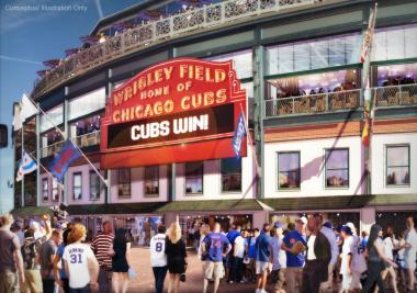 The Cubs introduced a $300 million renovation package at the Cubs Convention on Jan. 19, 2013. Funding remains a sore spot as the Cubs want the city to ease landmark restrictions that prevent installation of money-making billboards.