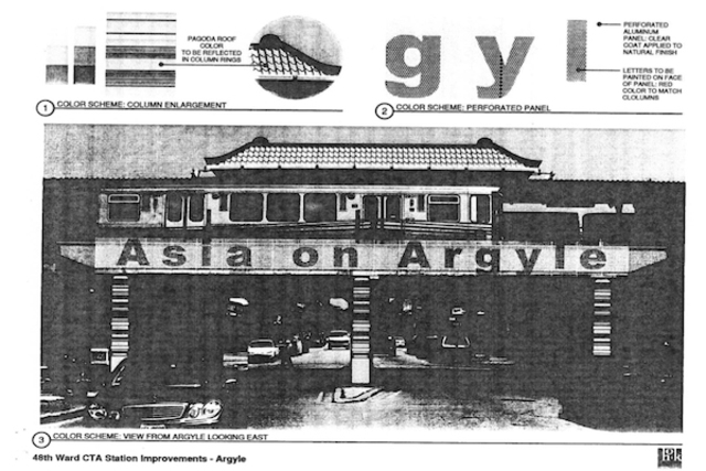 <p>A rendering of the Asia on Argyle sign that was given to M.Q. Construction</p>