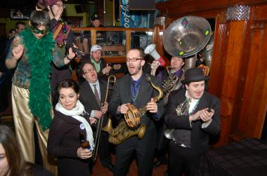 Members of cwill be touring from bar to bar during Rush and Division's Fat Tuesday fest.