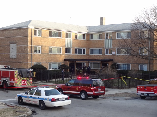 <p>Two bodies were found in a building in the 8100 block of South Maryland Avenue where a fire broke out about 3:30 p.m. Wednesday, officials said.</p>