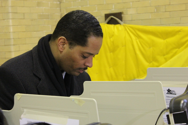 <p>Ald. Anthony Beale (9th) casted his vote Tuesday at Frank Bennett Elementary School on the South Side in the special election for the 2nd Congressional District.</p>