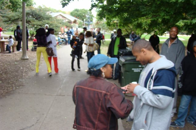 <p>At a September 2010 reunion of current and former residents of Wicker Park, the four chess tables at the southern end of the historic park at 1500 N. Damen Ave. provided seating for young and old alike.</p>