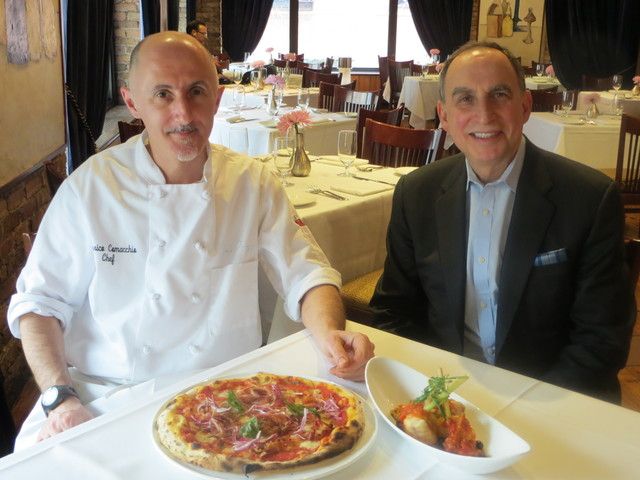 <p>Jack Weiss (r.), owner of Coco Pazzo and Coco Pazzo Cafe, will open Tre Soldi, a Roman-style trattoria, with chef Federico Comacchio (l.) in charge of all three kitchens.</p>