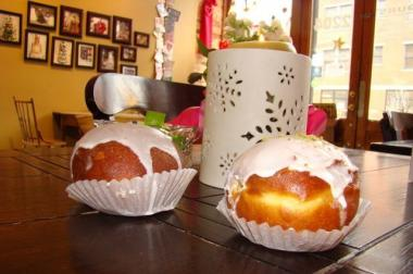 In honor of Fat Tuesday, bakeries across the city will be offering paczki. Paczki (pronounced PUNCH-ski) is already plural as the singular is paczkek, but English speakers have taken to calling a single one a paczki.