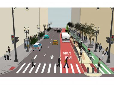 New renderings of planned separated bike and bus lanes for the Loop were released Wednesday.