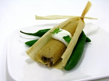 Tamale from Dia De Los Tamales, a gourmet tamale company currently trying to open a storefront in Pilsen.