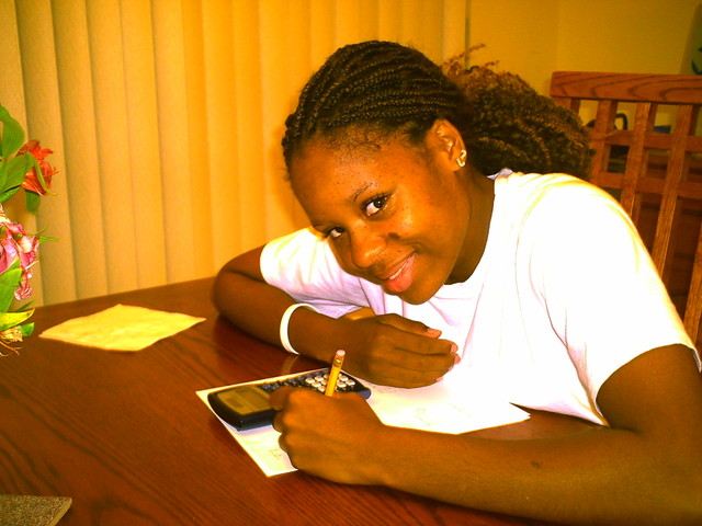 <p>Dominique Jacobs takes a break from studying during an online course toward her associate&#39;s degree at South Plains College in Texas.</p>