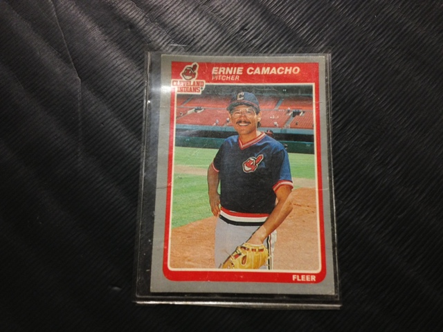 <p>Vaughn Camacho has kept this baseball card of his father, former Major League Baseball player Ernie Camacho, in his wallet for at least the last 10 years.</p>