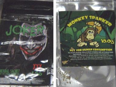 "Police seized $1.2 million in fake pot labeled ""Joker"" and ""Monkey Spanker,"" police said Wednesday."