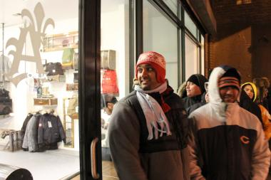 "Chicago sneakerheads lined up for Lebron's Nike 'Corkscrew X"" rather than re-released Jordans."