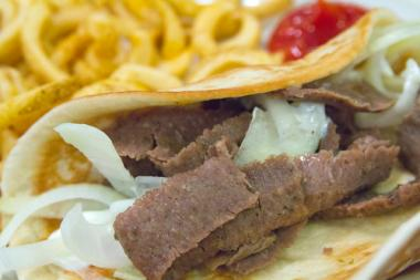 The cure for cabin fever: Greek gyros.
