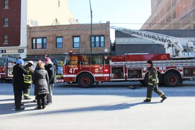 A fire broke out in an apartment above the former Hamilton's Bar, officials said.