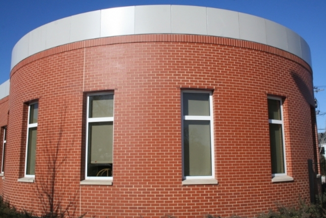 <p>Exterior of the newly renovated Humboldt Park Library, which will reopen Saturday.</p>