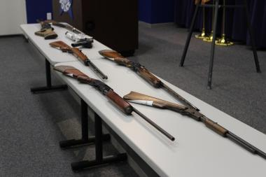 Police said a recovered an assualt rifle has been on display in each of the weekly news conferences on citywide gun recovery, many are recovered fully loaded.