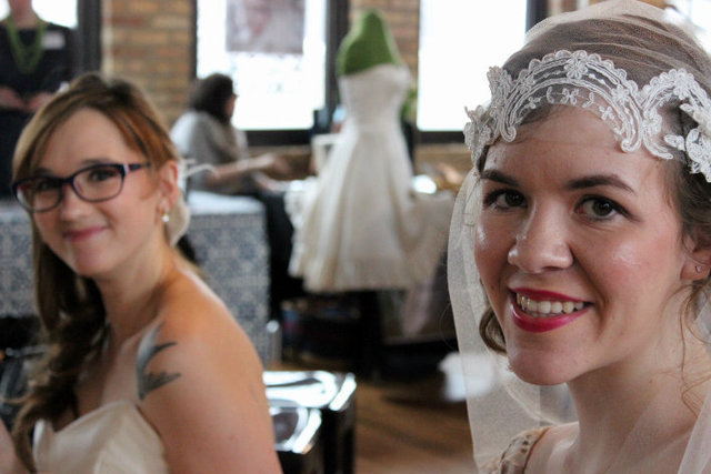 <p>Bridal fashions on display at Indie Wed.</p>
