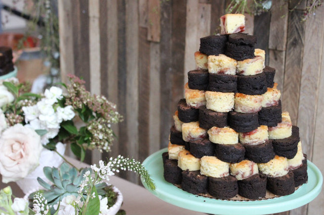 <p>Indie Wed is all about alternatives, such as a brownie tower instead of cake.</p>
