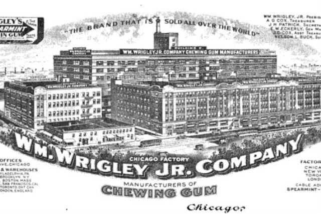 <p>Part of the Central Manufacturing District, the William Wrigley Jr. Company&#39;s gum manufacturing plant was a major source for jobs.</p>