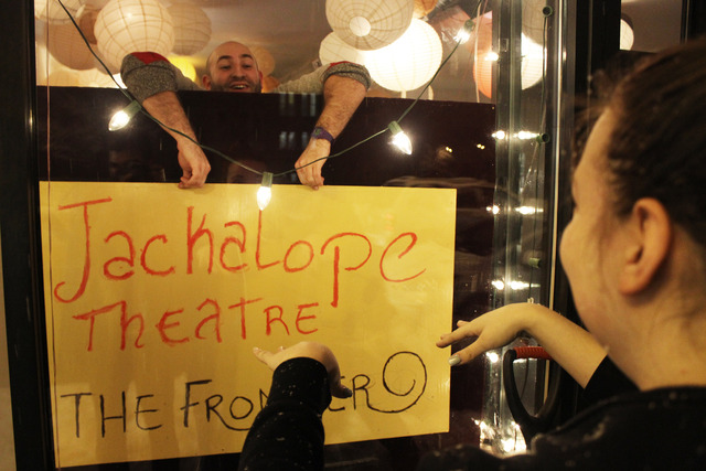 <p>The Jackalope Theatre Company held a space warming party after moving into a storefront on Thorndale Avenue.</p>