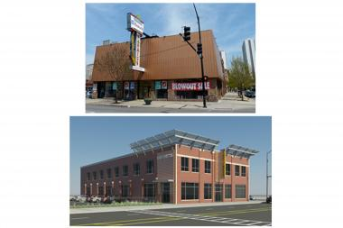 The buidling, at 6101 N. Broadway, will be renovated and open as an LA Fitness by the end of the year. The photo at the top shows the current building, while the bottom is a rendering of the future LA Fitness.