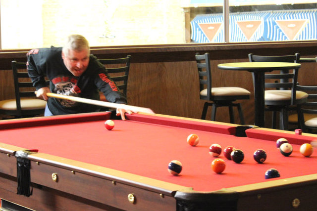 <p>The bar area at Lincoln Square Lanes has been expanded to make room for pool tables.</p>