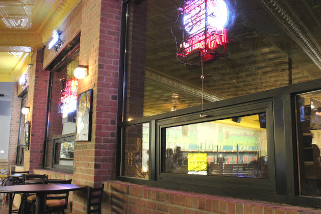 <p>As part of the remodeling efforts, windows were uncovered at Lincoln Square Lanes.</p>