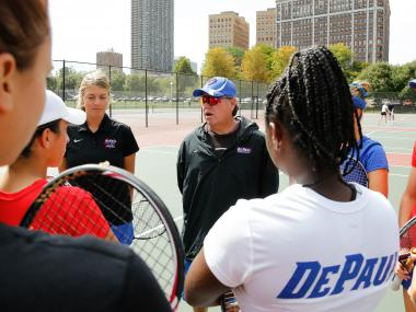 DePaul women's tennis coach Mark Ardizzone led the Blue Demons to the NCAA tournament in 2010.