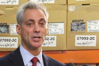 Mayor Rahm Emanuel boasts of a record-breaking year at Midway Airport.