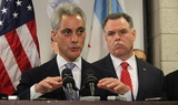Rahm Emanuel Joins McCarthy, Alvarez in Pushing for Tougher Gun Penalties