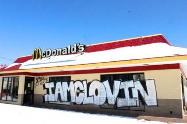 Built in 1983, a McDonald's Restaurant at 1951 N. Western Ave. is expected to be demolished Monday. Graffiti artists broke into the site and made their mark on three of four walls recently.