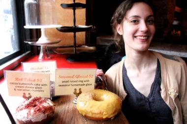 Megan Smerage, 22, a counter associate at the walk-up doughnut window at Francesca's Forno in Wicker Park, said that all Francesca Forno locations will be featuring packzi for Fat Tuesday.