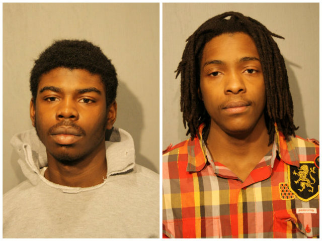<p>Michael Ward, 18 (l.), and Kenneth Williams, 20, have been charged in the killing of Hadiya Pendleton.</p>