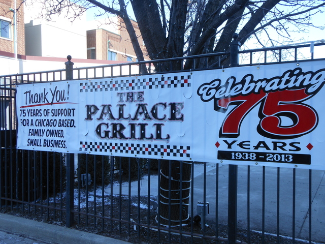 <p>Palace Grill, 1408 W. Madison St., is celebrating its 75th anniversary with yearlong specials.</p>