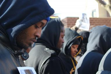 Community members marched in remembrance of 15-year-old Hadiya Pendleton who was shot and killed Jan. 29.