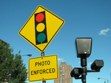 Red light camera at Foster & Broadway